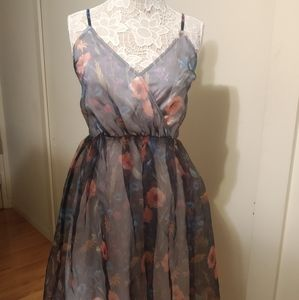 ModCloth Floral Tulle Dress